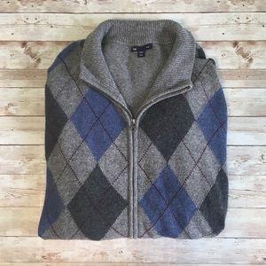 Gap Argyle Zip Sweater